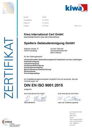 Spelters_9001_Zertifikat